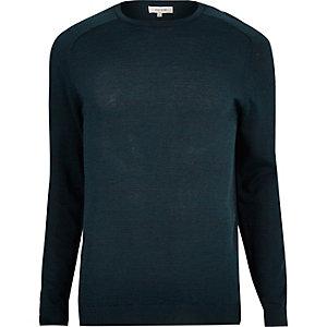 Dark blue crew neck jumper