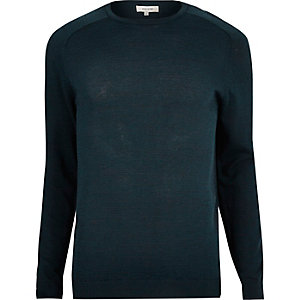 Dark blue crew neck sweater