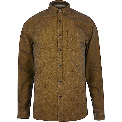 Senfgelbes Oxford-Hemd