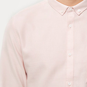 Light pink waffle shirt