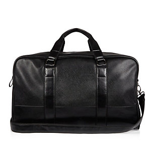 Black Bag Black Square Holdall