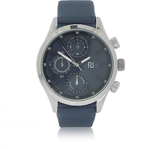 Marineblaue Armbanduhr