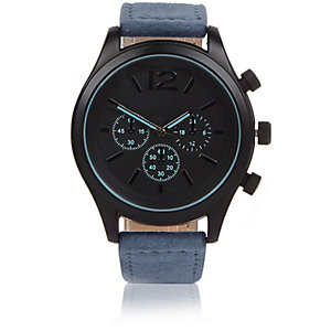 Blue chunky watch