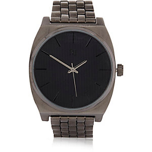 Grey square case watch