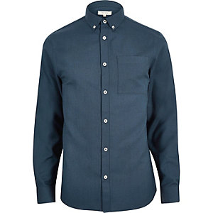 Blue flannel long sleeve shirt