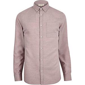 Pink flannel long sleeve shirt