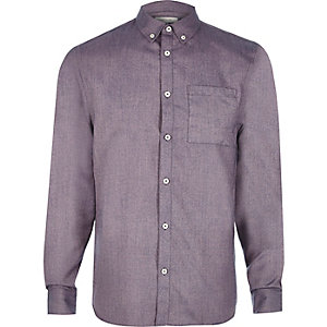 Purple flannel long sleeve shirt