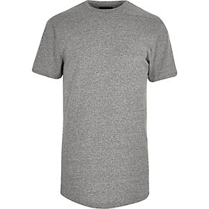 Grey longline grindle t-shirt