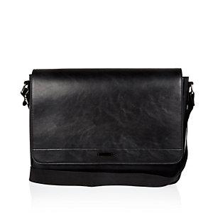 Black smart messenger bag