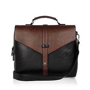Dark brown satchel bag