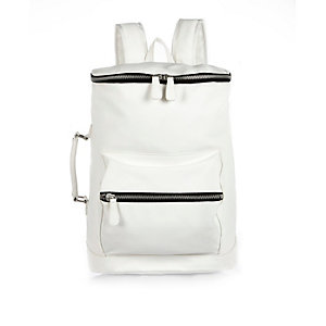 White bucket backpack