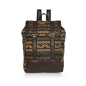 Dark green Aztec backpack