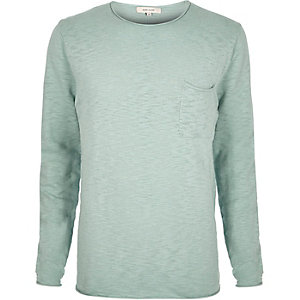 Light green crew neck top
