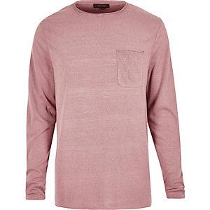 Pink long sleeve t-shirt