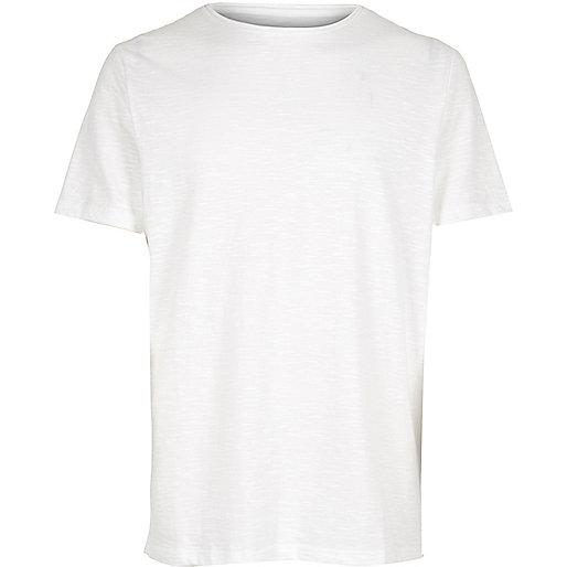 T-shirt ras du cou blanc