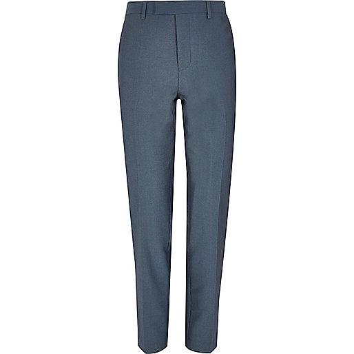 Pantalon de costume skinny bleu