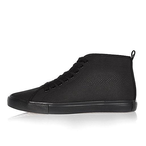Black demi lace-up boots