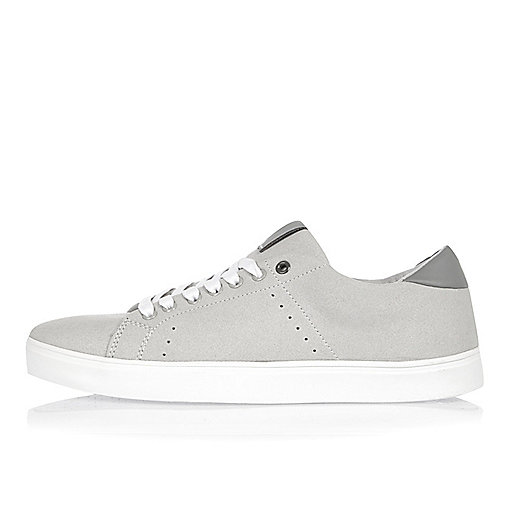 Grey lace-up sneakers