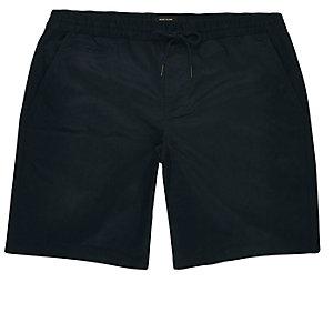 Navy pull on bermuda shorts