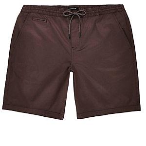 Purple pull on bermuda shorts