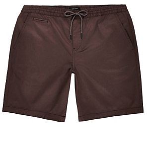 Purple pull on bermuda shorts