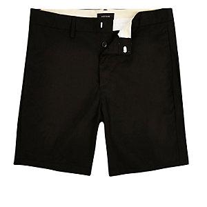 Black slim shorter length shorts