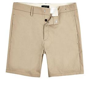Light brown slim shorter length shorts