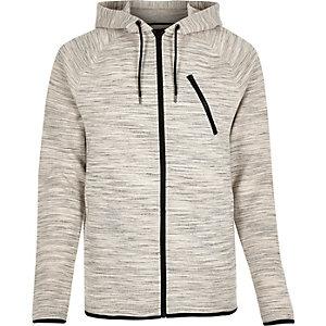 Grey zip pocket hoodie