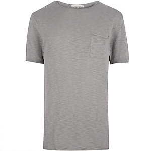 Grey crew neck short sleeve top