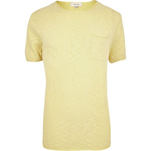 Yellow crew neck short sleeve top