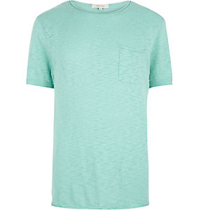 Light green crew neck short sleeve top