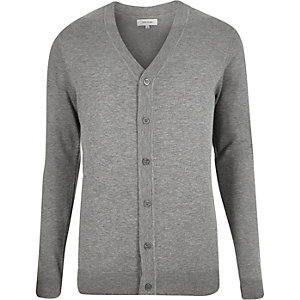 Grey knitted cardigan