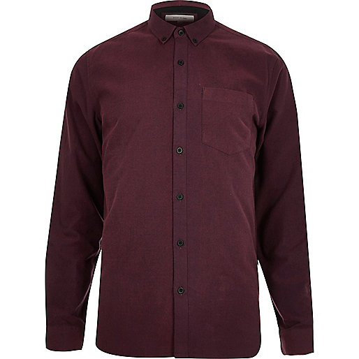 Chemise rouge oxford