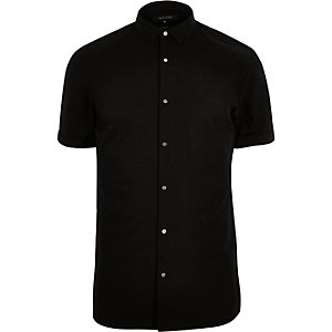 Black popper short sleeve shirt