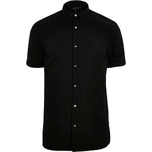 Black popper slim fit shirt