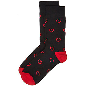 Black heart socks