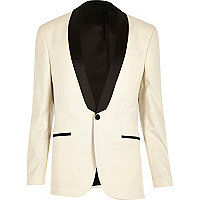 White skinny suit jacket