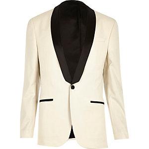 Weiße Skinny Anzugsjacke