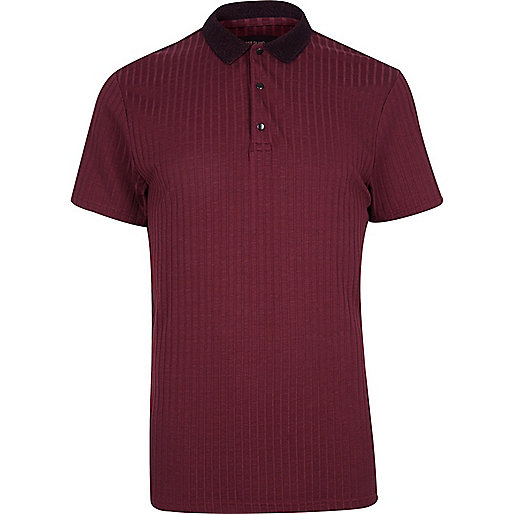Burgundy ribbed polo shirt polo shirts sale men Burgundy polo shirt boys