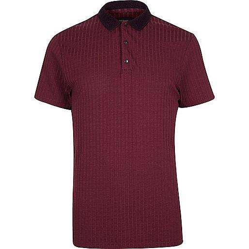 Burgundy ribbed polo shirt polo shirts sale men Burgundy polo shirt boys