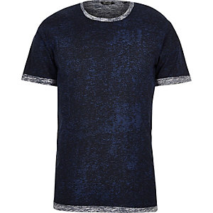 Dark blue print Only & Sons t-shirt