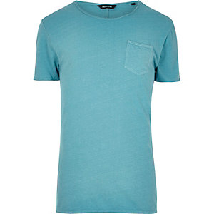 Blue Only & Sons raw edge T-shirt
