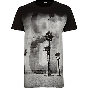 Black Only & Sons print t-shirt