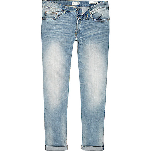Light blue Only & Sons slim jeans