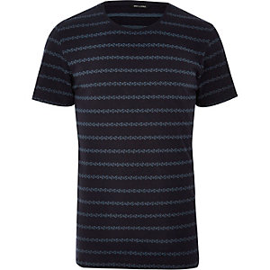 Navy Only & Sons stripe t-shirt