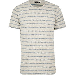 Ecru Only & Sons stripe t-shirt