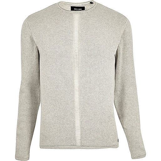 Only & Sons – Strickpullover in Ecru