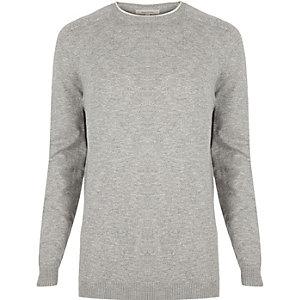 Light grey crew neck jumper