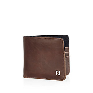 Light brown branded wallet