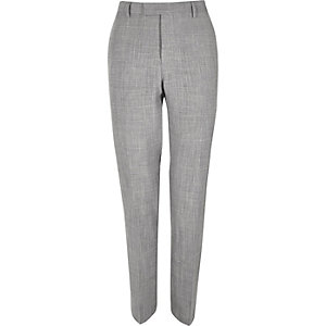 Grey slim fit suit pants